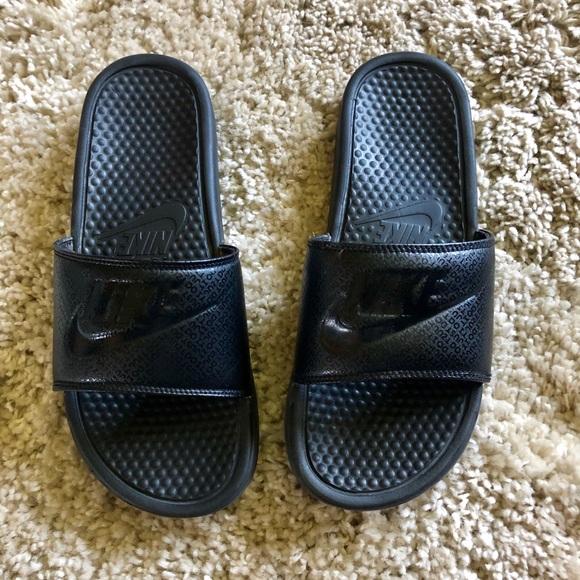Nike Shoes | Mens Black Nike Slides